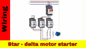 wiring delta motor starter power and circuit