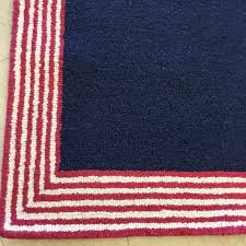 Pottery Barn Braided Rug by New Authentic Pottery Barn Kids Marshall Stripe 3 X 5 U0027 Rug Navy