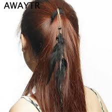 feather hair extensions 2017 awaytr brand rope feather hair extensions clip in hair