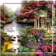 enchanted garden with butterflies picture 89925990 blingee com