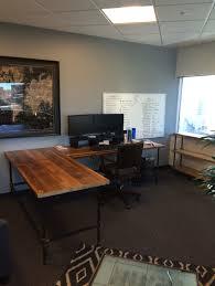 Office L Desks by L Shaped Reclaimed Wood Desk Modern Office Furniture Urban Wood