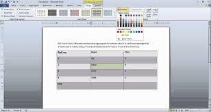 table tools design tab design tab in table tools final demo in ms word 2010 by mindpulley