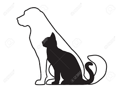 dog and cat clipart black and white clipartxtras