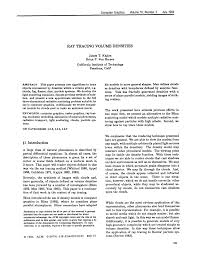 ray tracing volume densities