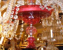 Orange Glass Chandelier Antique Ruby Red Glass Chandelier For Sale At 1stdibs