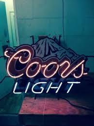 vintage coors light neon sign coors light neon beer sign
