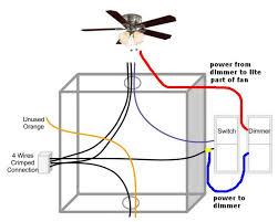 how to wire a ceiling fan to a wall switch ceiling fan light on dimmer switch fan on normal switch ceiling fan