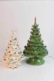 vintage ceramic christmas tree 2 vintage ceramic christmas trees with lights