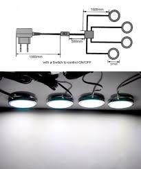 Kitchen Under Cabinet Led Lighting Kits Amazon Com Cefrank Led Cabinet Lighting 4 Pack Counter Under