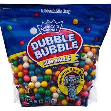 Where Can I Buy Gumballs Original Dubble Bubble Gum Balls 3 3 Lbs Walmart Com