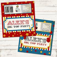 custom circus invitations valerie pullam designs vintage circus birthday chocolate bar