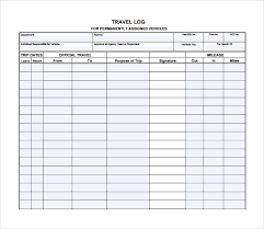 sample call log templates