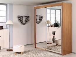 Small Bedroom Sliding Wardrobes Furniture Wardrope Mirrored Door In Center Panel Combined With