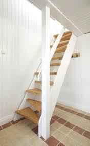 loft ladder ideas white tree styled ladder to the attic rv bunk