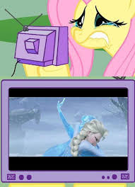 Mlp Fluttershy Meme - fluttershy tv meme frozen by eagc7 on deviantart