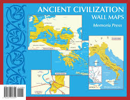 Maps Of Ancient Greece by Ancient Civilization Small Wall Maps 11 U0027 U0027x17 U0027 U0027 Memoria Press