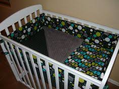 Mini Crib Bedding For Boy Navy And Citron Zig Zag Mini Crib Bedding Mini Crib Bedding