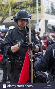 Flag Stakes Seattle Police Officer Confiscates Pointed Flag Stake May Day