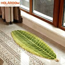 tappeti verdi foglie verdi tappeti di design antiscivolo zerbino tappeti per