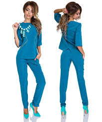 business casual blouses s business casual 3 4 sleeve blouse cigarette trousers suit set