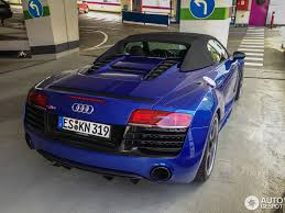 audi r8 chrome blue audi r8 v10 spyder 2013 14 june 2013 autogespot