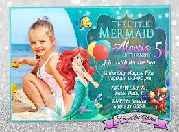 little mermaid invitation template 19 personalized birthday