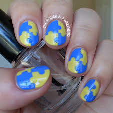 nail designs with blue and yellow gallery yellow and blue nail