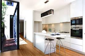 small kitchen ideas with island solid hardwood flooring small white island black chair in