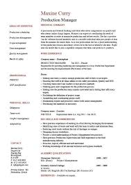 Product Manager Resumes Management Resume Templates Examples Of Project Management