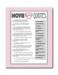 Sayings For A Wedding Bridal Shower Game Name That Movie Love Quote By Blissfulsoiree