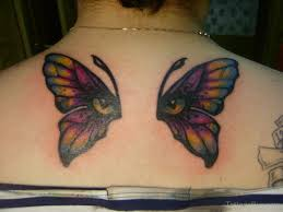 butterfly on back designs pictures