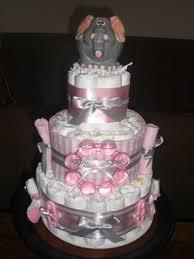 pink elephant diaper cake my fun projects pinterest