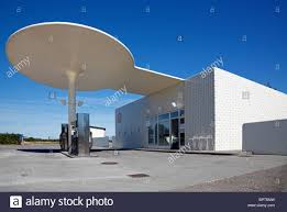 the petrol station designed by arne jacobsen at the coastal road