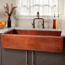 kitchen best hammered copper farmhouse kitchen sinks interior