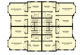 Compact Floor Plans Compact Four Family House Plan 67713mg Architectural Designs