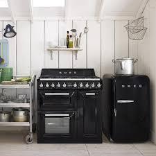 buy online retro mini fridge smeg fab10lne 130l black in israel
