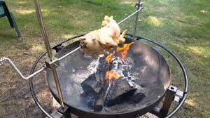 Cooking Over Fire Pit Grill - rivergrille cowboy fire pit grill youtube