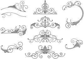 free borders and vector flourishes free vector