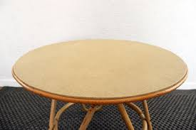 rattan coffee table outdoor vintage round rattan coffee table for sale at pamono