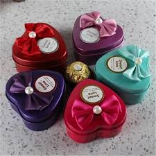 heart shaped candy boxes wholesale wedding heart shape metal candy box wedding favor holders delicate