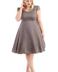 red polka dot tea dress elsie u0027s attic