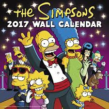 the simpsons the simpsons wall calendar 2017 day dream 9781629057927