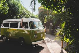 volkswagen yellow car vehicle retro free images sea vw van seaside yellow bus minibus city