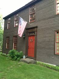 new england red front door great rusty red color with the deep