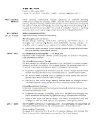 Sample Resume Objectives Psychology by Marketing And Sales Manager Resume Free Resume Example And