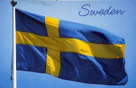 Sweedish Flag Postcards Of Nations Sweden Flag