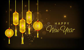 traditional chinese lamps for happy new year celebrations stock