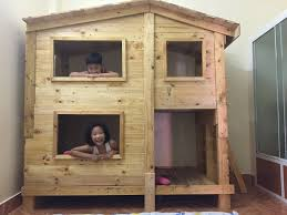 outstanding pallet painting ideas 12 outstanding pallet kids bunk beds with playhouse u2022 1001 pallets