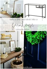 ikea console hack ikea vittsjo hack a farmhouse entryway table my fabuless life
