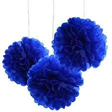 royal blue tissue paper 10pcs royal blue tissue hanging paper pom poms hmxpls